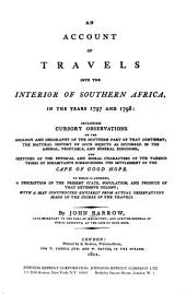 An Account of Travels Into the Interior of Southern Africa