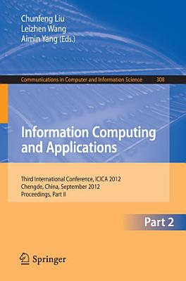 Information Computing and Applications PDF