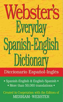 Webster s Everyday Spanish English Dictionary Book