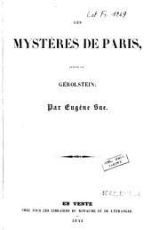 Les mystères de Paris, suivis de: Gérolstein: Volume1