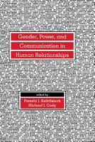 Gender  Power  and Communication in Human Relationships PDF