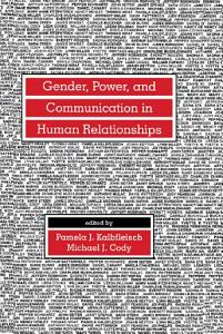 Gender  Power  and Communication in Human Relationships Book