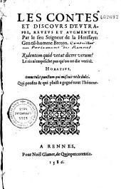 Les Contes et discours d'Eutrapel, reueus et augmentez