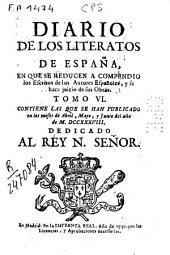Diario de los Literatos de España en que se reducen a compendio los escritos de los autores españoles