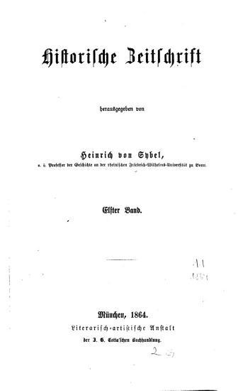 Historische Zeitschrift PDF