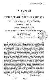 A letter to the people of Great Britain and Ireland on transportation: Volume 10