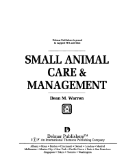 Small Animal Care   Management PDF