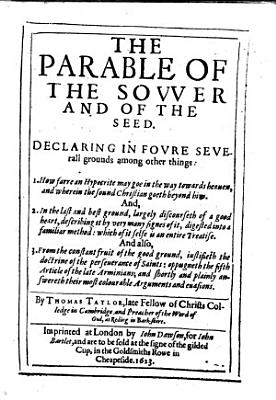The Parable of the Sower and of the Seed  etc PDF