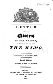 Letter from the Queen to her People, in reply to the one from the King ... Second edition