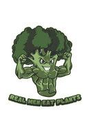 Real Men Eat Plants: Blank Lined Notebook for Vegans and Vegetarians