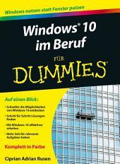Windows 10 im Beruf f?r Dummies