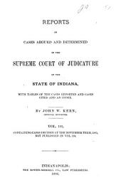 Reports of Cases Argued and Determined in the Supreme Court of Judicature of the State of Indiana: Volume 105
