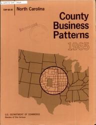 County Business Patterns North Carolina Book PDF
