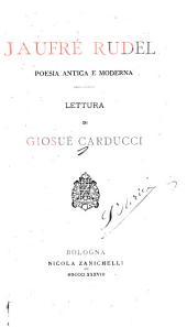 Jaufré Rudel: poesia antica e moderna