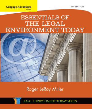 Cengage Advantage Books  Essentials of the Legal Environment Today PDF