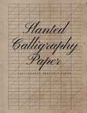 Slanted Calligraphy Paper Book