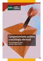 Comportamiento pol  tico y sociolog  a electoral PDF