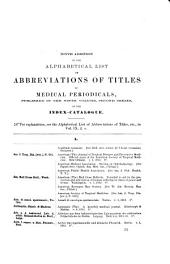 Index-catalogue of the Library of the Surgeon-General's Office ...: vol. 21; ser. 3, additional lists; ser. 4, vols. 10 and 11]. 1880-1895