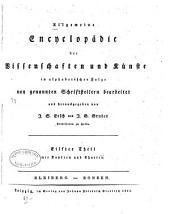 Allgemeine Encyclopädie der Wissenschaften und Künste in alphabeischer Folge: Bände 11-12