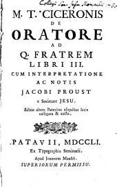 De oratore ad Q. fratrem libri III