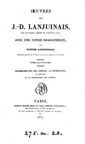 Œuvres, avec une notice biogr. par V. Lanjuinais