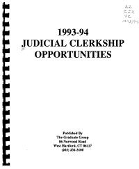 Judicial Clerkship Opportunities PDF