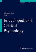 Encyclopedia of Critical Psychology