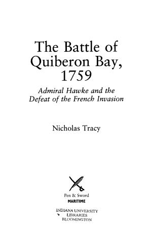The Battle of Quiberon Bay  1759 PDF