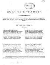 Goethe's Faust, tr. [by sir G.F. Duckett, versification by prof. Burrows of] the 'introduction' and the 'prologue in Heaven'.