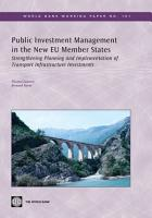 Public Investment Management in the New EU Member States PDF