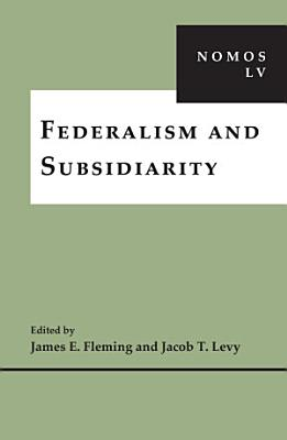 Federalism and Subsidiarity PDF