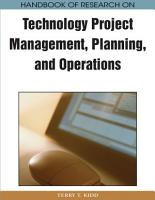 Handbook of Research on Technology Project Management  Planning  and Operations PDF