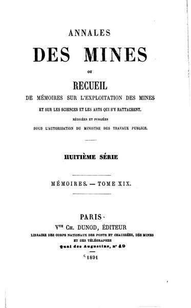 Download Annales Des Mines Book