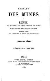 Annales Des Mines: Mémoires