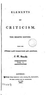Elements of Criticism,1