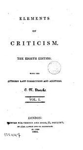 Elements of Criticism,1