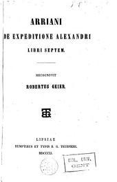 De expeditione Alexandri libri septem
