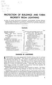 Protection of buildings and farm property from lightning