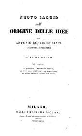 Nuovo saggio sull'origine delle idee: Volume 1
