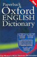 Paperback Oxford English Dictionary Book PDF