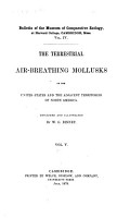 The Terrestrial Air breathing Mollusks of the United States PDF