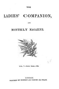 the ladies  companion  and monthly magazine PDF