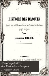 Histoire primitive des Euskariens-Basques