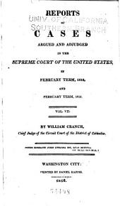 United States Reports: Cases Adjudged in the Supreme Court, Volume 11