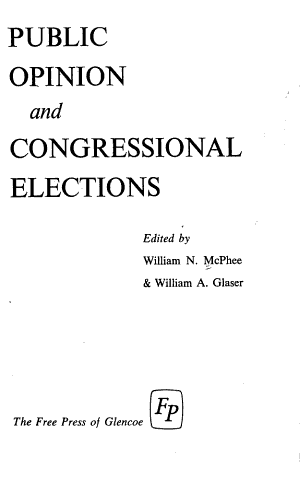 Public Opinion and Congressional Elections PDF
