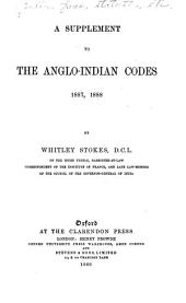 A Supplement to The Anglo-Indian Codes ...: Supplement