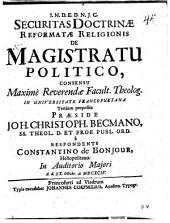 Securitas doctrinae reformatae religionis de magistratu politico