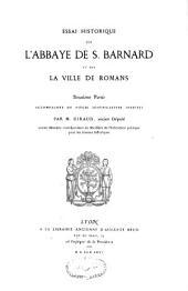 Essai historique sur l'abbaye de St-Barnard et sur la ville de Romans: Volume3
