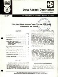 Third Count Block Summary Tapes From The 1970 Census Of Population And Housing Book PDF