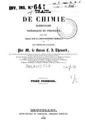 Traite de chimie élémentaire, théorique et pratique: 1
